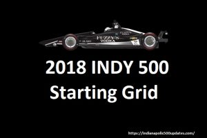 Indy 500 2018: Starting Grid & Live Broadcast Info
